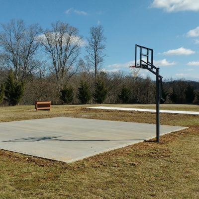 Basketball and shuffleboard courts